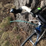 Kristine Contento-Angell road bike snapped cable