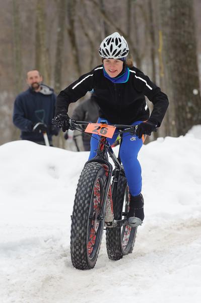 Fat lip on a fat bike - Kristine Contento Angel